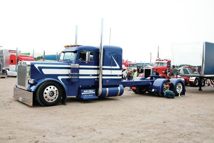 Blowjob in a big rig truck