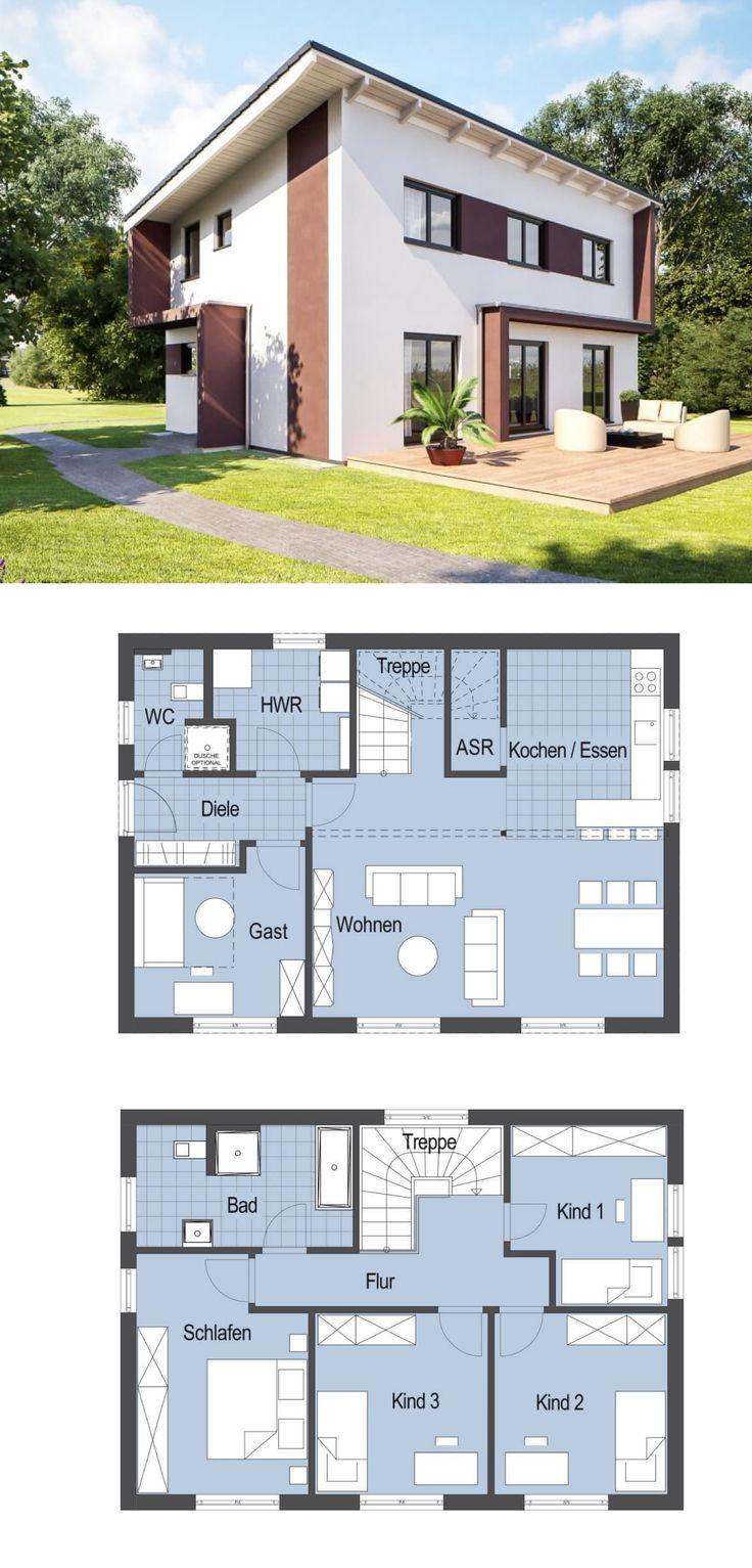 Modernes Einfamilienhaus mit Pultdach – Haus Top S…