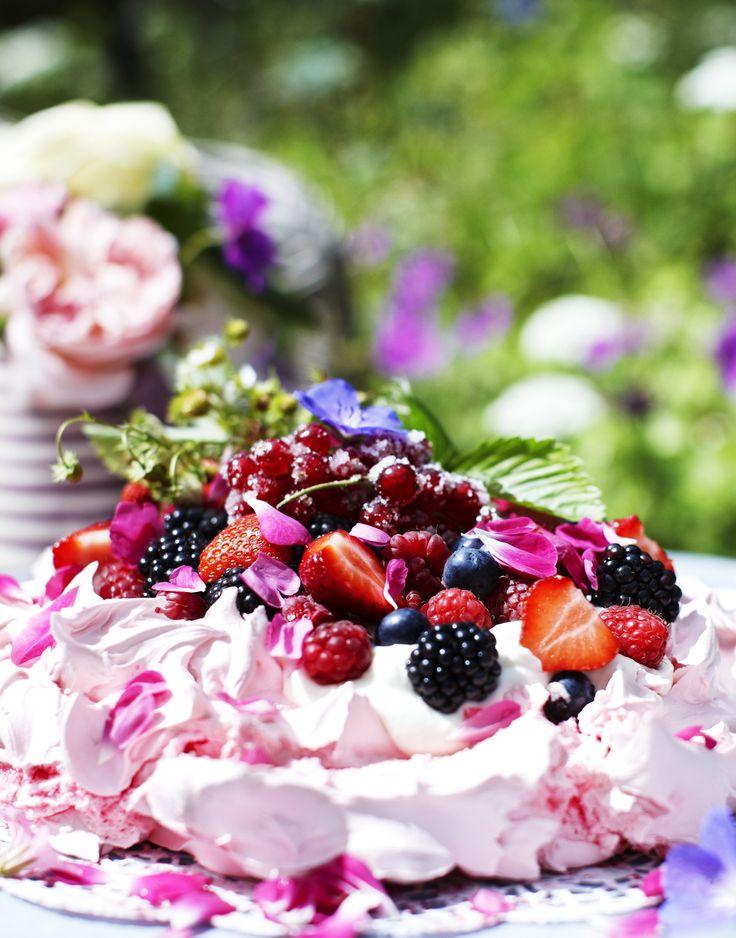sommerdessert, bær, kager