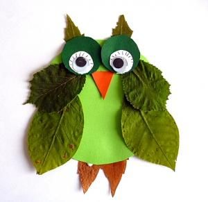 cute leaf owl