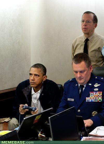 Obama killing Osama bin Laden #Humor #Photoshopped