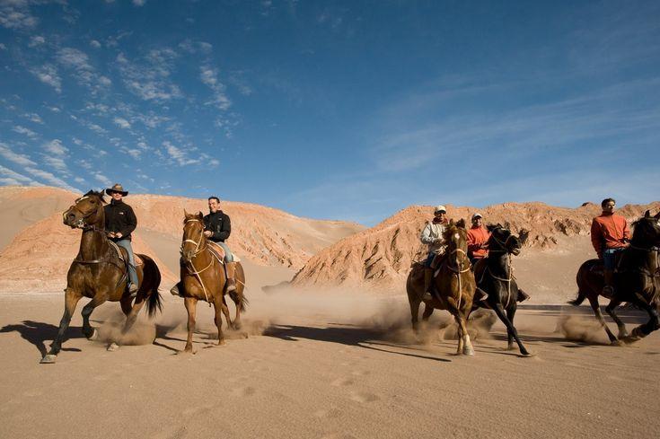 Action horses riding horseback desert vacation travel Latin America