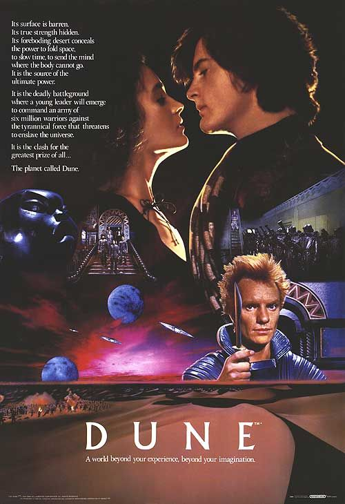 Dune watching this on TV late one night made me want to read the books.