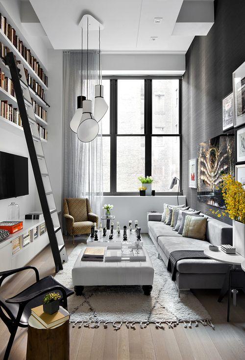 salon grande hauteur sous plafond - Recherche Google | Salon | Salon ...
