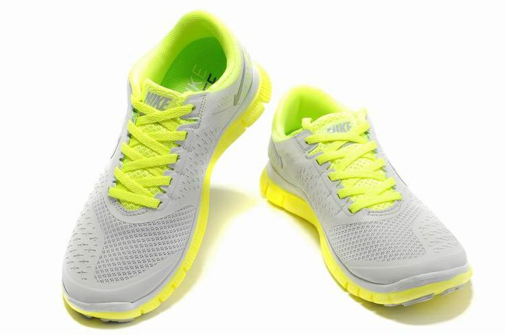 buy popular 44003 4d90d ... coupon for damen nike free 4.0 v2 schuhe light grey green fluorescent  b759f df2a4