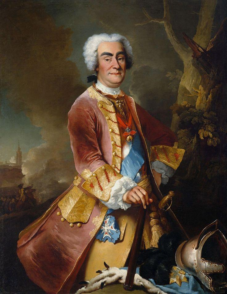 Portrait of Augustus II the Strong by Louis Silvestre, 1736 (PD-art/old), Zamek Królewski w Warszawie (ZKW)