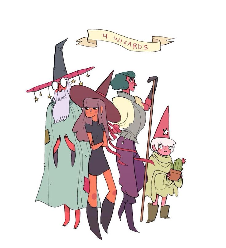 "art from the upcoming graphic novel ""4 Wizards"" by Noelle Stevenson (Gingerhaze) & Todd Casey"