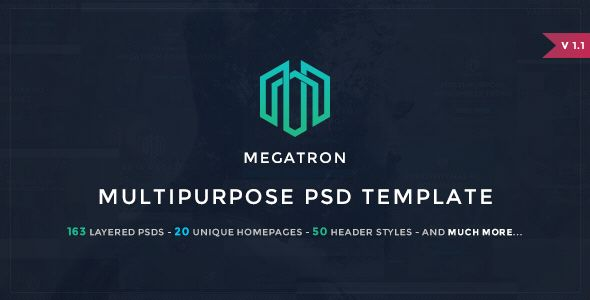 Megatron - Multipurpose PSD Template