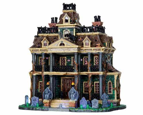 Lemax Spooky Town Gothic Haunted Mansion With Adaptor