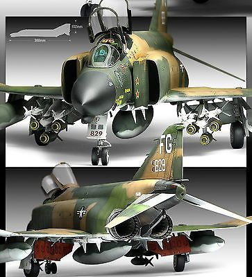 "1/48 Aircraft ""Vietnam War"" USAF F-4C Phantom 2 Plastic Model Kit 12294, #plasticmodel"