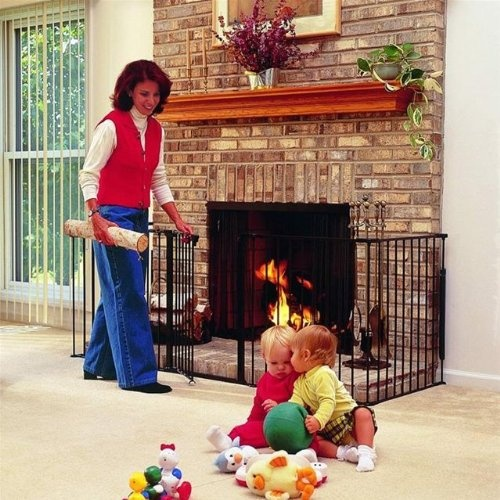 $164.39-$280.00 Baby Hearthgate-fireplace,hearth & bbq grill black 72 x 24 x 29.5 - offers protection from the heat and fire of fireplaces, wood burning stoves and barbecues in addition to the dangers of sharp corners and the hard, rough surfaces of hearths. - features include: -five interlocking 24 sections can be angled or set in a straight line as needed, and are wall mounted for safety. -bas ...