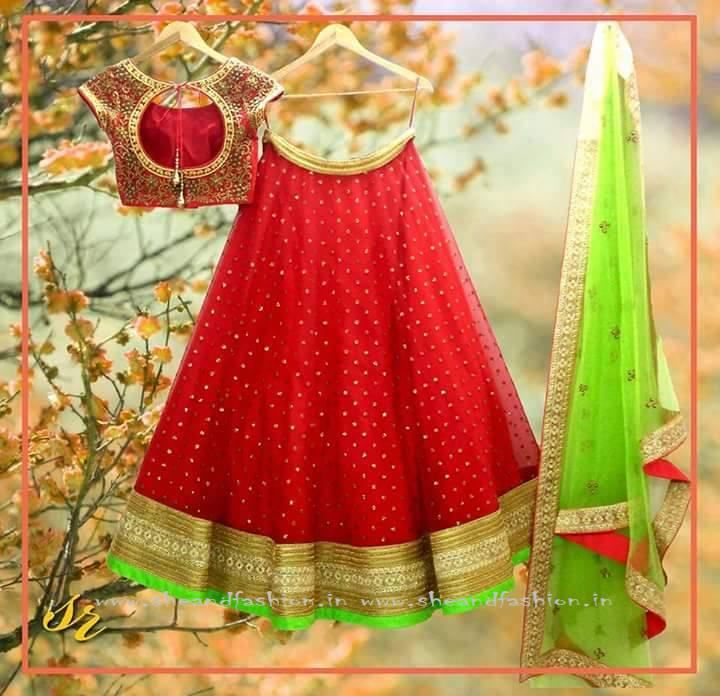 Designer Lehenga Half Saree Collections