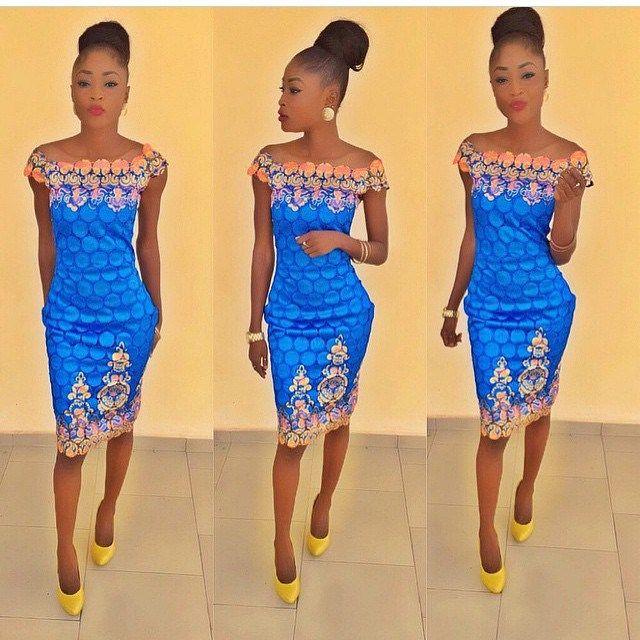 Latest lace dress style