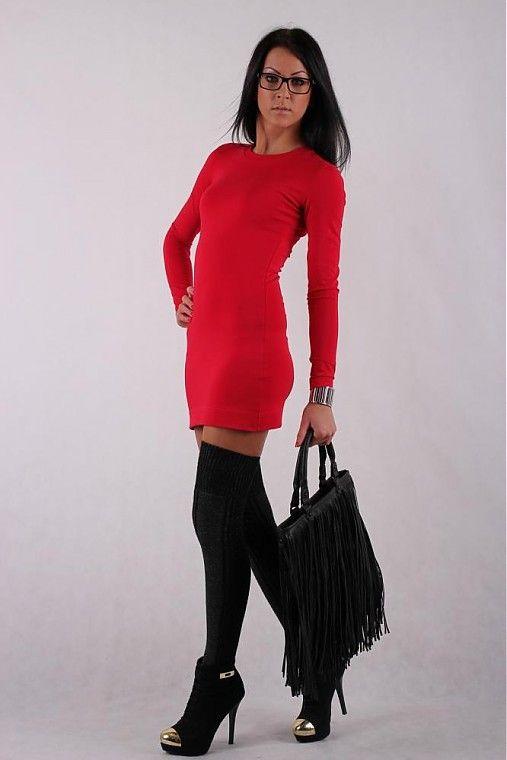veronikaIN_FASHION / SEXI DRESS__RED_BLACK_multiface