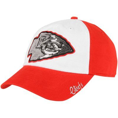 '47 Brand Kansas City Chiefs Ladies Sparkle Slouch Adjustable Hat
