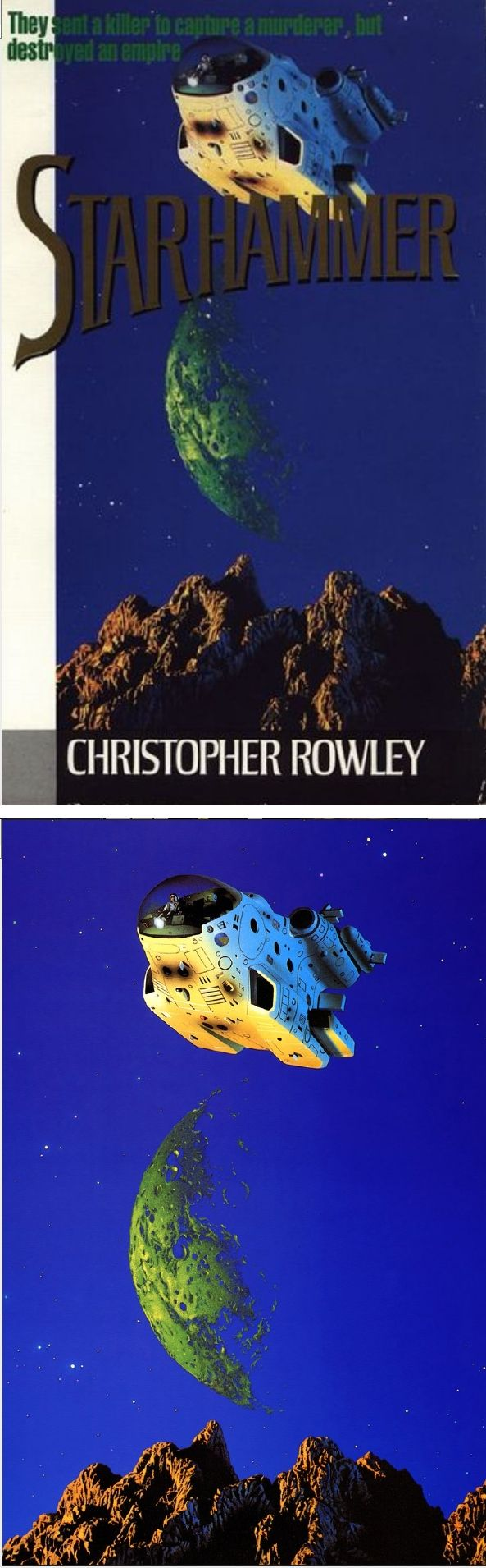 TIM WHITE - Star Hammer by Christopher Rowley - 1987 Arrow Books - cover by isfdb - print by dbimaginarte.blogspot