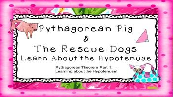 Pythagorean Theorem (Part 1 - Hypotenuse ONLY) CCSS.MATH.CONTENT.8.G.B.6 - Ever wonder how you are going to get your class to reach this CCSS Grade 8  Geometry  Understand and apply the Pythagorean Theorem.  6 standard?  Well, here's the first step (which ONLY COVERS THE HYPOTENUSE).