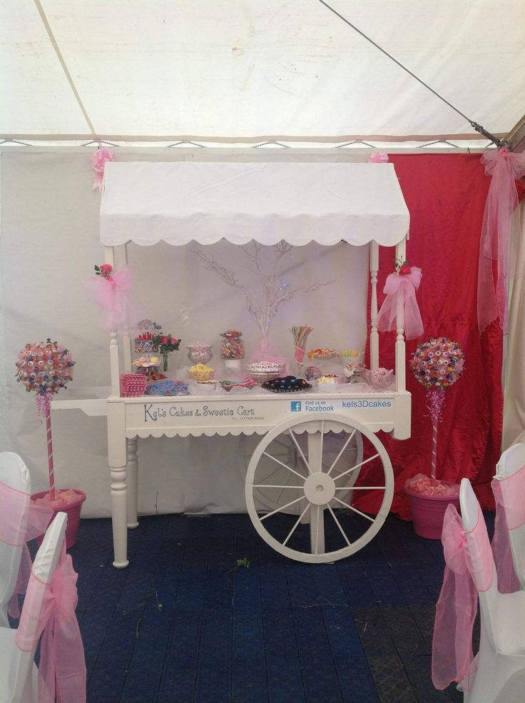 Glitz and Glam sweetie cart for hire perfect for weddings, christenings, party's, ect