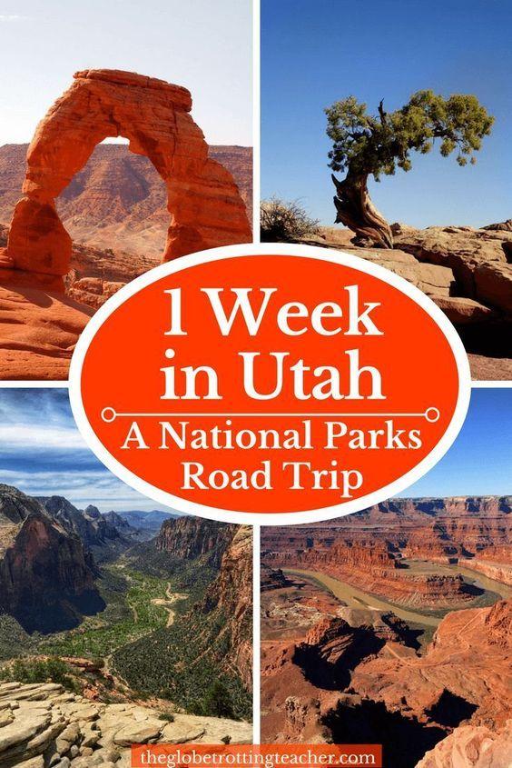 Como planejar um itinerário bem-sucedido de uma semana nos parques nacionais de Utah  – wanderlust