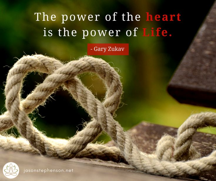 The power of the heart is the power of Life. - Gary Zukav  For meditation, inspiration, and MP3 downloads, please visit relaxmeonline.com and jasonstephenson.net