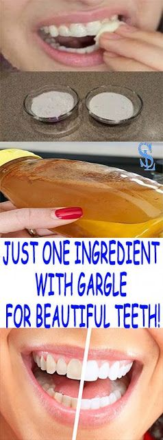 JUST ONE INGREDIENT WITH GARGLE FOR BEAUTIFUL TEETH!
