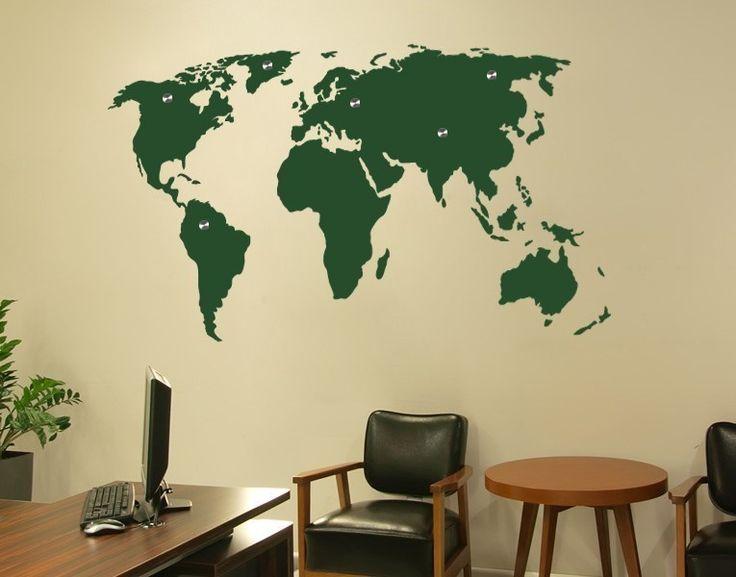 Popular Haken Wandtattoo Weltkarte