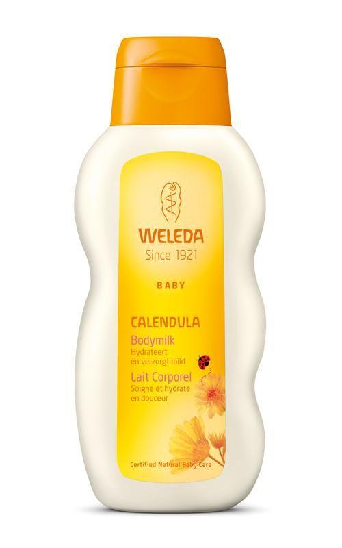 Weleda Calendula Baby Bodymilk 200 ml - Calendula Bodymilk is een verfrissende lotion met zoete amandelolie waarmee je de huid van je baby kunt reinigen en verzorgen.