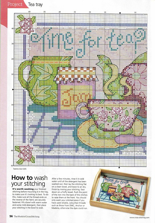 cross stitch tea: