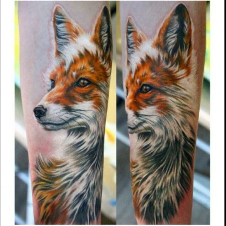Nika Samarina amazing fox tattoo