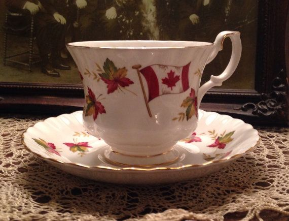 Royal Albert Canada Teacup and Saucer by ArtHappy on Etsy