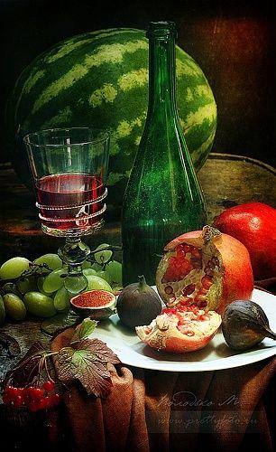 Фотография фотографа Марина Володько - Натюрморт с красным вином