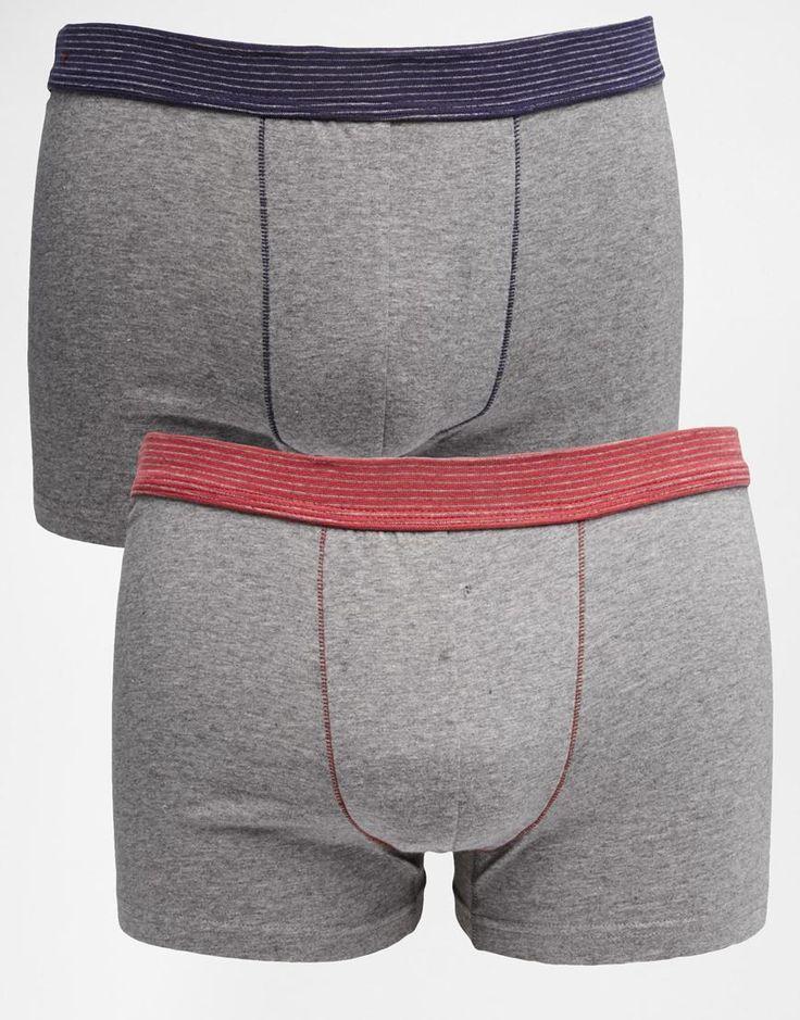 Unterhose von Esprit Baumwoll-Stretch-Mischung gestreifter Bund figurbetonter Schnitt Zweierset Maschinenwäsche 95% Baumwolle, 5% Elastan