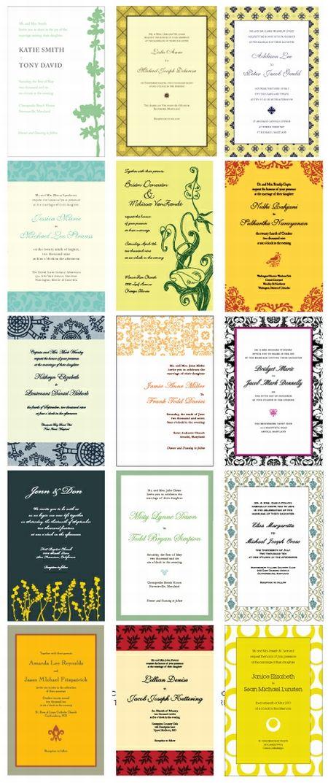 Wedding Invitation Templates おしゃれな手作り招待状!無料テンプレート(PDF・DOC)   Free Style