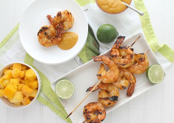 Mango Chili Lime Grilled Tiger Shrimp via JennySheaRawn.com
