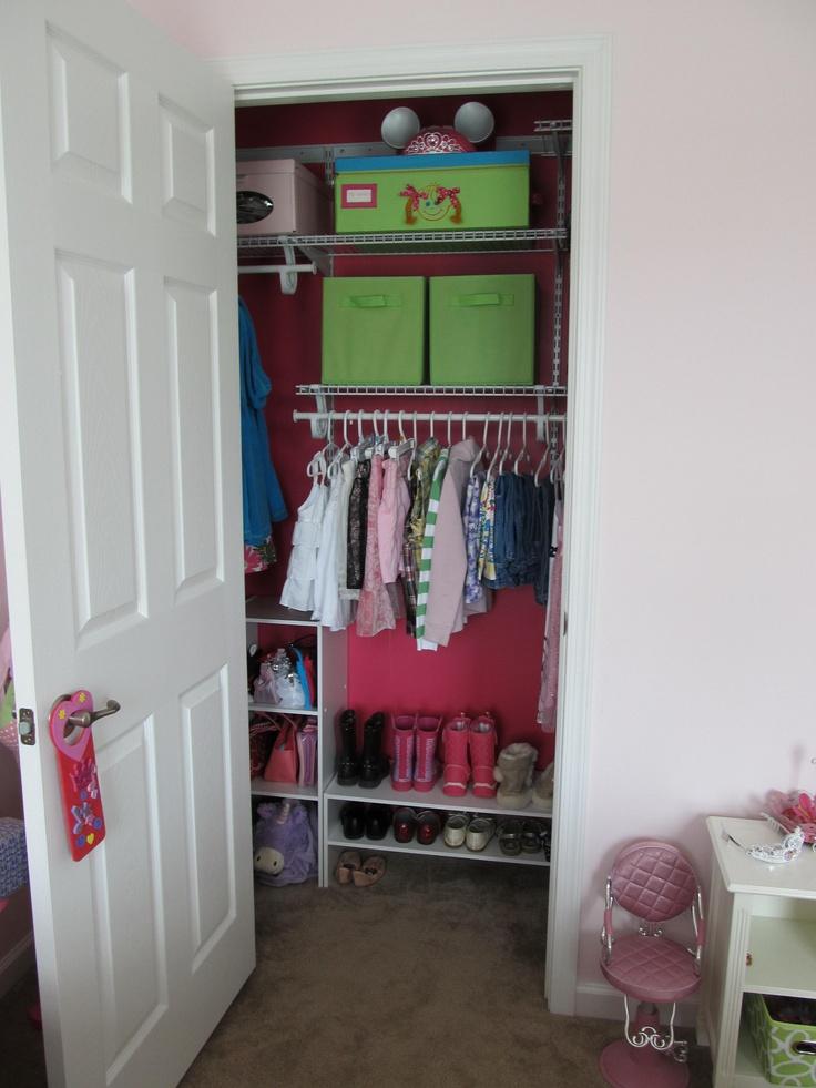 Kids closet organization for Isabella.
