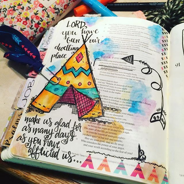 Bible Journaling by Christina Lowery @christinasalive | Psalm 90