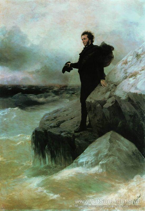 Pushkin's Farewell to the Sea 1887, Ivan Aivazovsky oil paintings