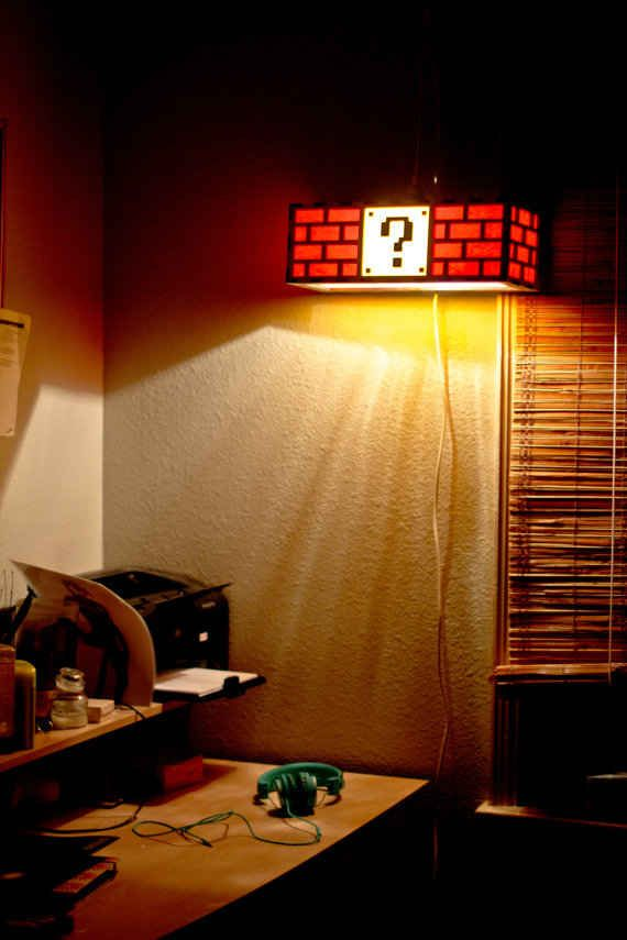 Super Mario lamp | The 33 Best Geeky Things To Buy On Etsy -This needs to be in Logi's room.