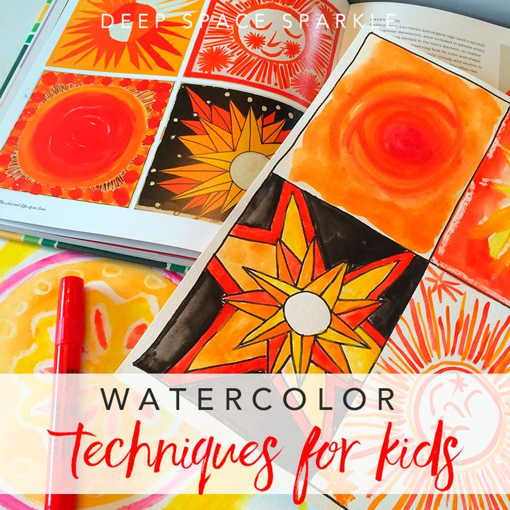 The 4 best watercolor techniques for kids