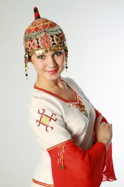 The Beautiful Chuvash Girl (Turkic Ethnicity and the Turkic speech community member in the Volga region of western Asia)