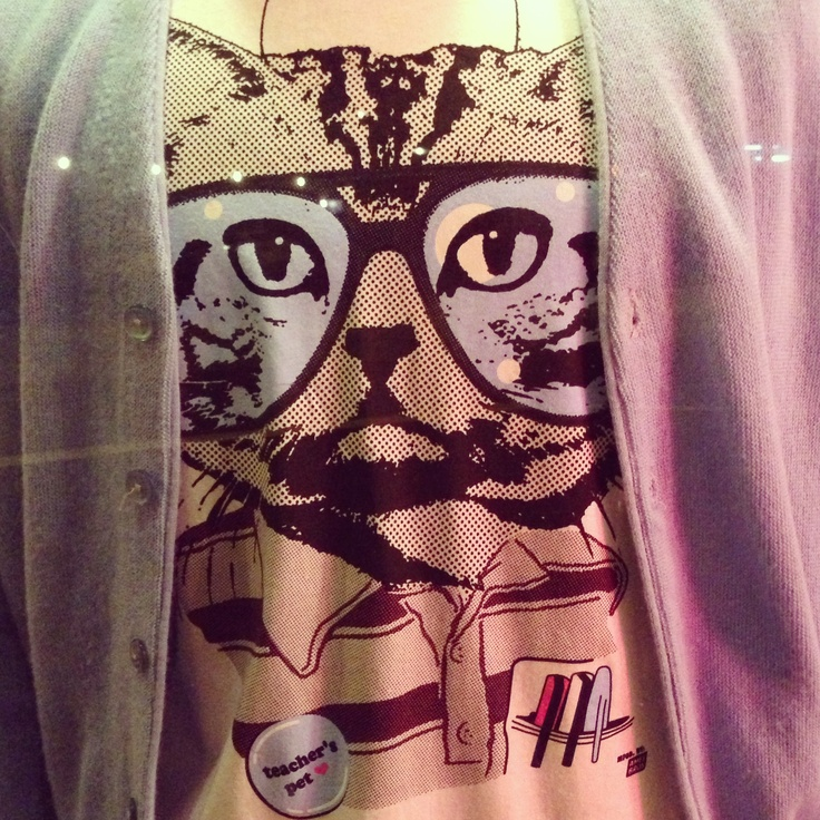 Ames Bros tee with kitty! $29