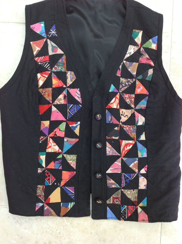 Wool patchwork waistcoat