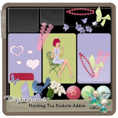 Morning Tea Pockets Addon ( PU/S4H ) by Yours&Mine
