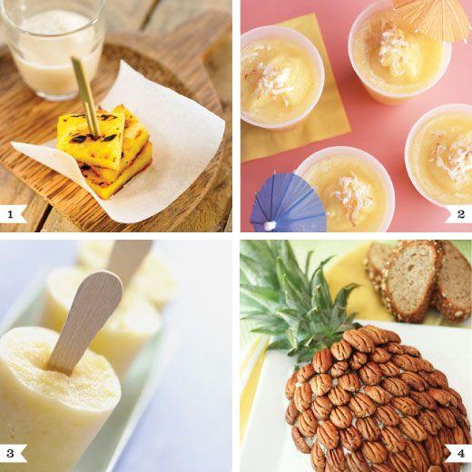 Luau party foodPineapple Recipes, Luau Parties, Martha Stewart, Parties Ideas, Party Recipes, Grilled Pineapple, Cream Cheeses, Pineapple Parties, Parties Food