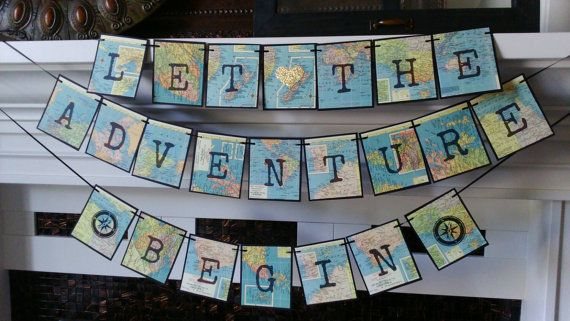 Adventure Banner Travel theme Banner by lakecountrycottage on Etsy