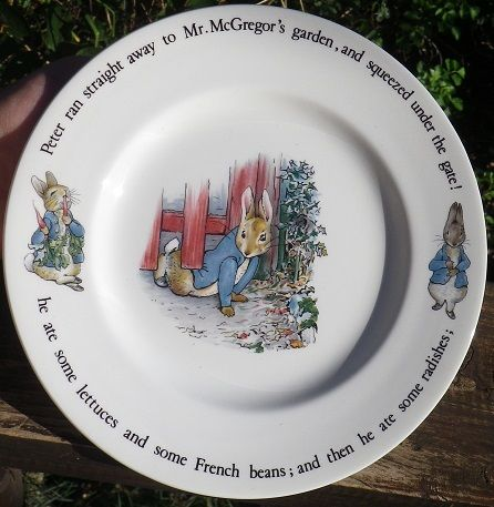 English Porcelain - Awesome BEATRIX POTTER PETER RABBIT PLATE. WEDGWOOD OF…
