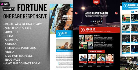 Fortune - One Page Responsive Parallax Template