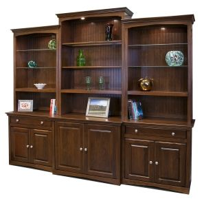 Design Your Own Bookcase Wall Unit by Arthur Brown Shown with Beadboard Back