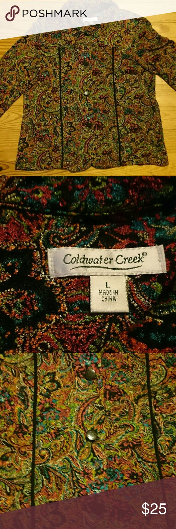 Coldwater creek button down jacket Beautiful fall colors new without tags Coldwater Creek Jackets & Coats Blazers #downjacket