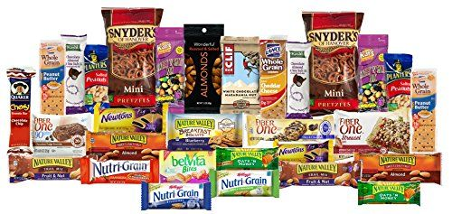 Healthy Care Package with 30+ Sweet & Savory Snacks, Variety Snack Box for Military Appreciation, Gift Basket of Assorted Healthy Snack Foods for College Students (1 Box)